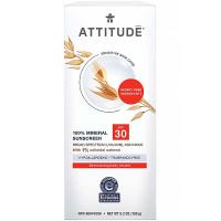 ATTITUDE 100% minerální opalovací krém SPF 30 pro citlivou a atopickou pokožku bez vůně 150 g