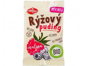 AMYLON Rýžový puding malinový 40 g BIO