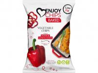 ENJOY CHIPS Pečený zeleninový snack Paprika 40 g