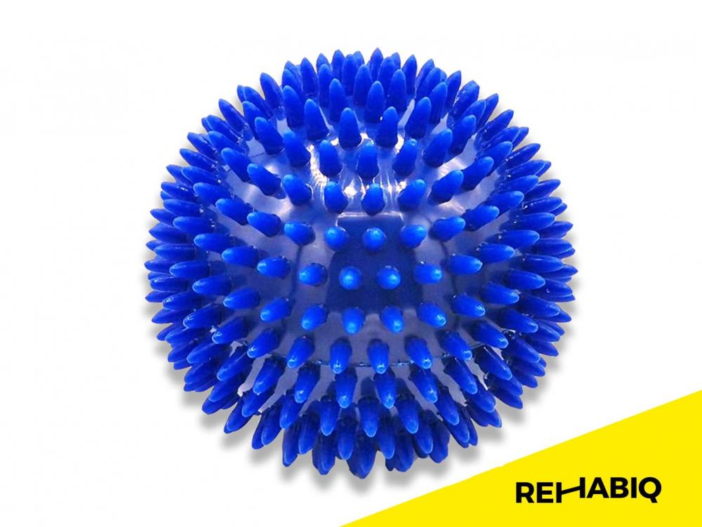 REHABIQ Masážní míček ježek modrý 10 cm