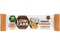 TOPNATUR Tyčinka Low carb kokos pomeranč 40 g