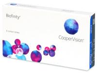COOPERVISION Biofinity měsíční čočky 6 kusů, Průměr: 14,0, Zakřivení: 8,6, Počet dioptrií: +3,25, Počet kusů v balení: 6 ks