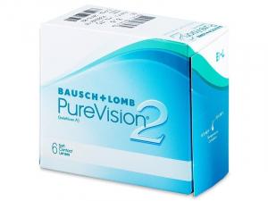 BAUSCH & LOMB PureVision 2 HD Měsíční kontaktní čočky 6 kusů