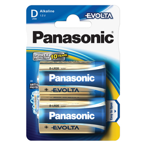 PANASONIC LR20 2BP D Evolta alkalické baterie