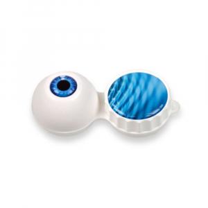POUZDRO 3D Na kontaktní čočky 1 ks, Barva: Bílá