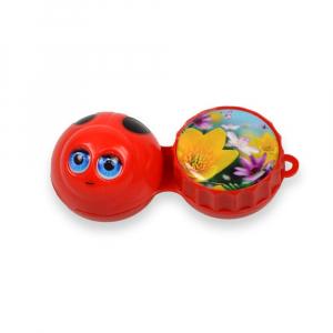POUZDRO 3D Na kontaktní čočky 1 ks, Barva: Červená