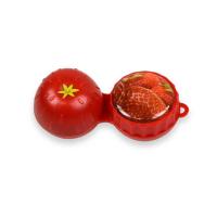 POUZDRO 3D Na kontaktní čočky 1 ks, Barva: Rumělková