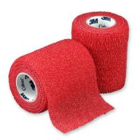 3M Coban elastické samofixační obinadlo červené 1 ks