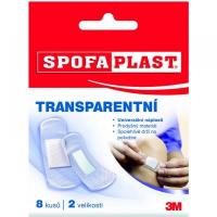3M SPOFAPLAST transparentní náplast 2 velikosti, 8 kusů