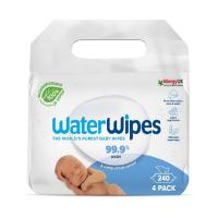 WATERWIPES 100% BIO Odbouratelné ubrousky 4x 60 ks