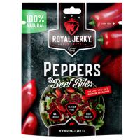 ROYAL JERKY Peppers beef bites hovězí sušené kousky příchuť paprika 50 g