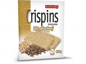 EXTRUDO Cereální křehký chléb Crispins BIO pohankový s quinoou bez lepku 2x50 g