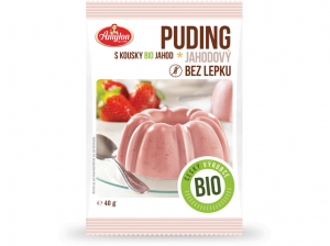 AMYLON Puding  jahodový 40 g BIO
