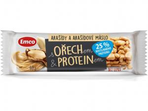 EMCO Tyčinka s ořechem a proteinem Arašídy a arašídové máslo 40 g