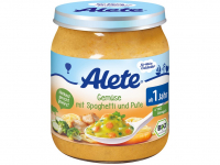 ALETE Bio Zelenina se špagetami a krůtím masem 250 g
