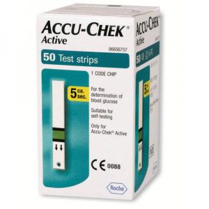 ACCU-CHEK Active testovací proužky 50 kusů