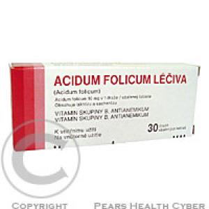 ACIDUM FOLICUM LÉČIVA  30X10MG Obalené tablety