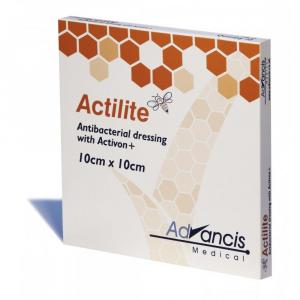Actilite 10 x 10 cm krytí antimicrobial s medem 10 ks