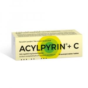 ACYLPYRIN + C  Šumivé tablety 12 kusů