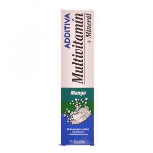 ADDITIVA Multivitamin Mangový s minerály 20 šumivých tablet