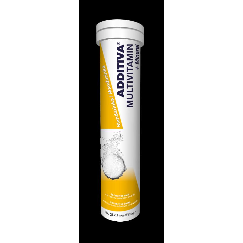 Levně Additiva Multivitamin + Mineral mandarinka 20 šumivých tablet
