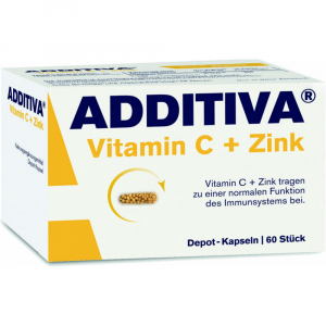 ADDITIVA Vitamín C + Zinek 60 tablet