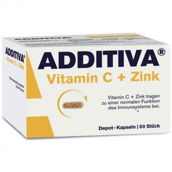 ADDITIVA Vitamin C + Zinek 80 kapslí
