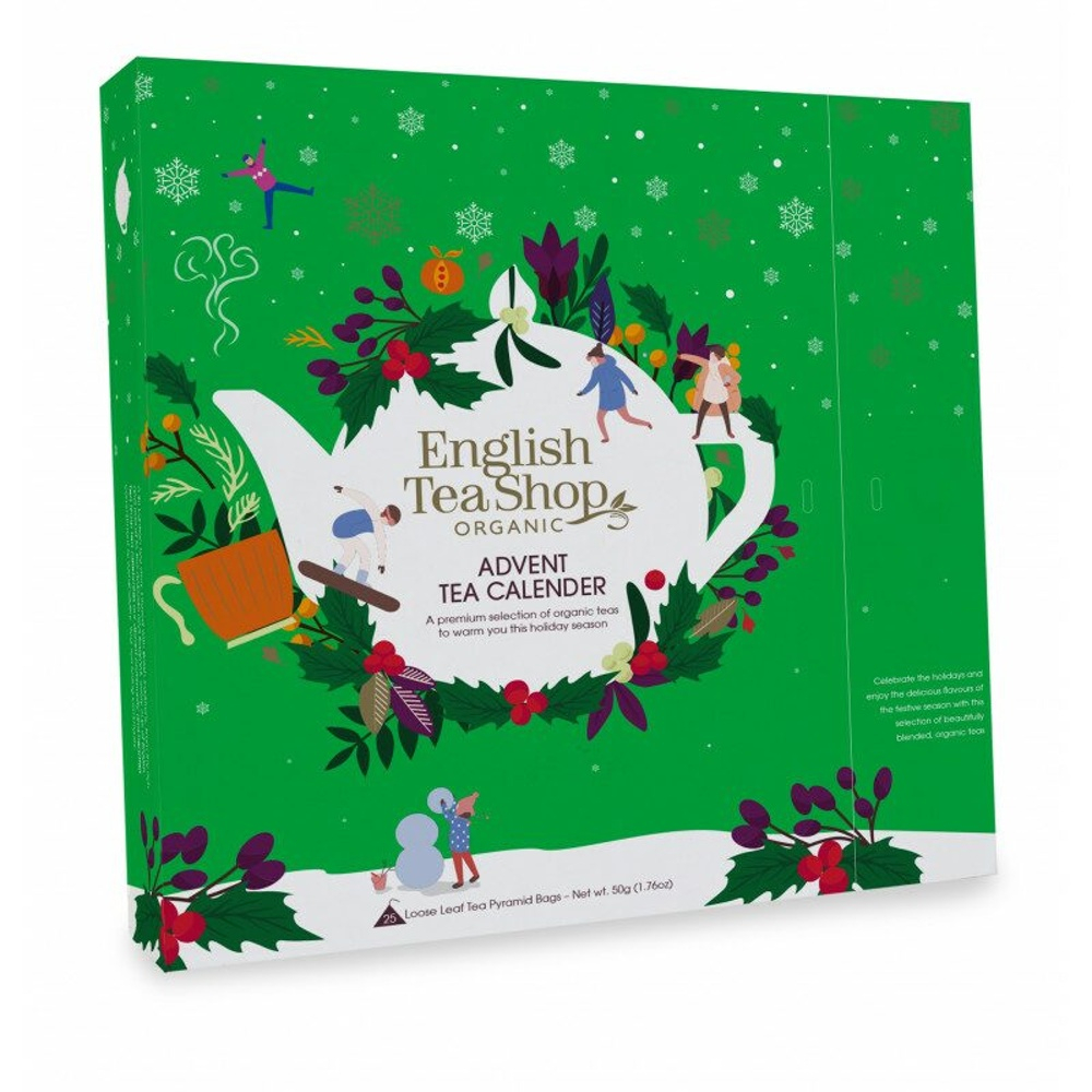 ENGLISH TEA Čajový Adventní kalendář zelený 25 pyramidek
