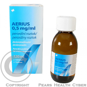 AERIUS 0,5 MG/ML  1X120ML+LŽ Roztok