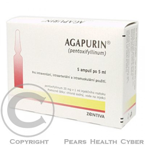 AGAPURIN  5X5ML/100MG Injekční roztok
