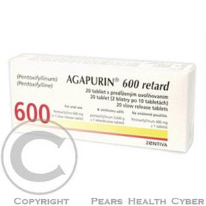 AGAPURIN SR 600  20X600MG Tabl. s prodl. uvol.