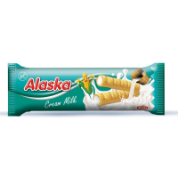 ALASKA Kukuřičné trubičky bez lepku mléčný krém 18 g