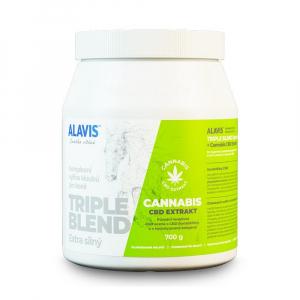 ALAVIS Triple Blend Extra silný s extraktem Cannabis CBD 700 g