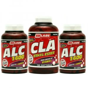 XXLABS ALC 1400 60tbl. + ALC 1400 60cps. + CLA Ethyl Ester 60 tablet ZDARMA