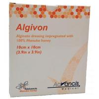 ADVANCIS Algivon alginátové antimikrobakteriální krytí 10 x 10 cm 5 ks