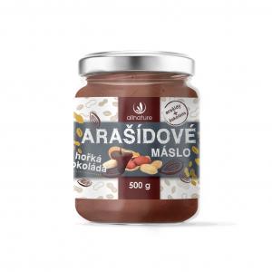 ALLNATURE Arašídové máslo s hořkou čokoládou 500 g