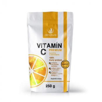 ALLNATURE Vitamín C Premium prášek 250 g