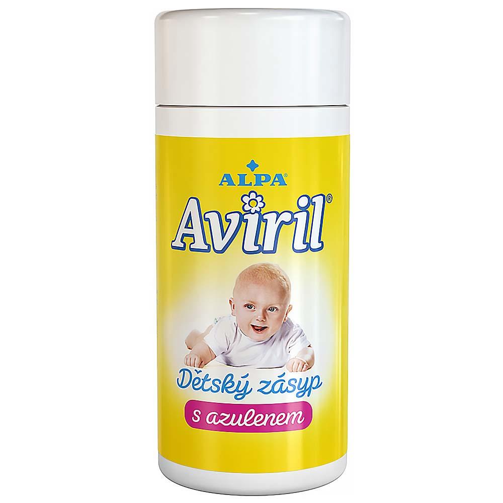 Aviril dětský zásyp s azulenem 100g (sypačka)