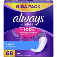 ALWAYS Discreet Inkontinenční intimní vložky Long 68 ks