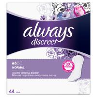 ALWAYS Discreet Inkontinenční intimní vložky Normal 44 ks