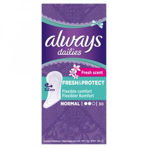 ALWAYS Fresh&Protect Normal Fresh Intimní vložky 30 ks