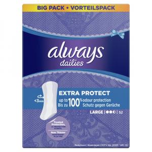 ALWAYS Dailies Extra Protect Large Intimní vložky 52 ks