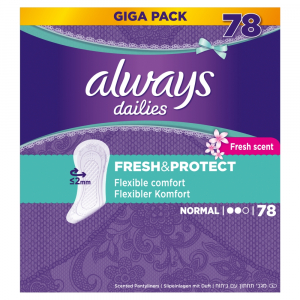 ALWAYS Fresh&Protect Normal Fresh Intimní vložky 78 ks