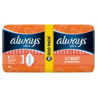 ALWAYS  Ultra Normal Plus Duo vel.1 Hygienické vložky s křidélky 20 ks