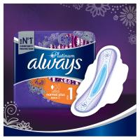 ALWAYS Platinum Normal vel.1 Hygienické vložky s křidélky 8 ks