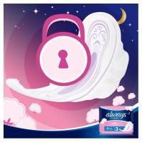ALWAYS Ultra Sensitive Night vel.3 Hygienické vložky s křidélky 14 ks