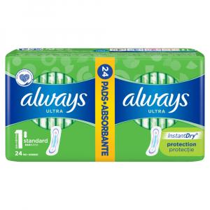 ALWAYS Ultra Standart vel.1 Hygienické vložky 24 ks