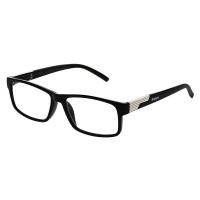 KEEN Čtecí brýle + 2.50 černé s kovovým doplňkem flex, Počet dioptrií: +2,50
