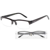 KEEN Čtecí brýle + 2.50 černé s pruhy a pouzdrem, Počet dioptrií: +2,50