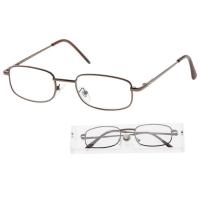 KEEN Čtecí brýle + 2.50 šedohnědé v etui, Počet dioptrií: +2,50